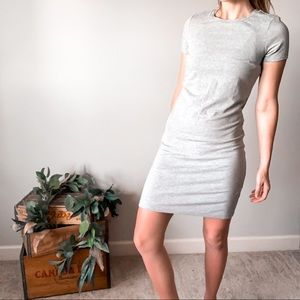 Old Navy Grey Fitted Shirt Dress 🌿